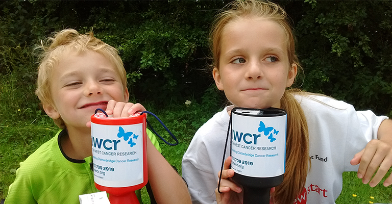 child volunteers at an event